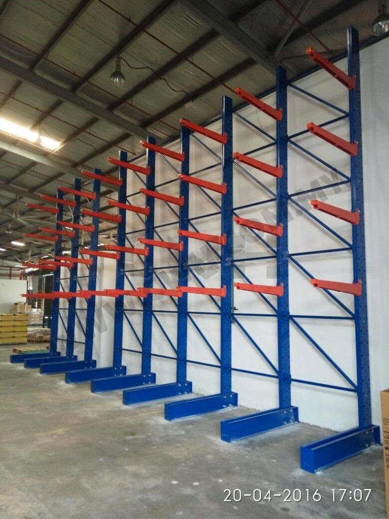 Heavy Duty Wall Cantilever Racking System Cwh Storage System